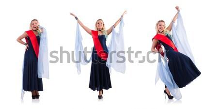Kobiet tancerz taniec hiszpanski dziewczyna sexy Zdjęcia stock © Elnur