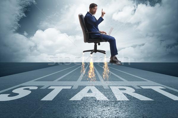 Businessman in career progression concept Stock photo © Elnur