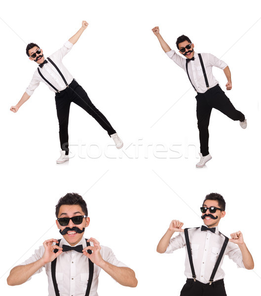 The young man with moustache isolated on white Stock photo © Elnur