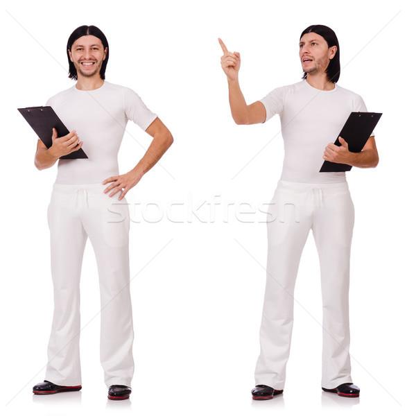 Uomo bianco abbigliamento sportivo isolato uomo bianco fitness Foto d'archivio © Elnur