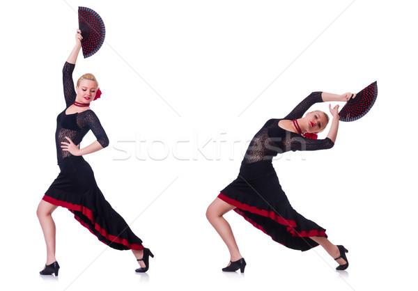 Kadın dans İspanyolca dans yalıtılmış beyaz Stok fotoğraf © Elnur