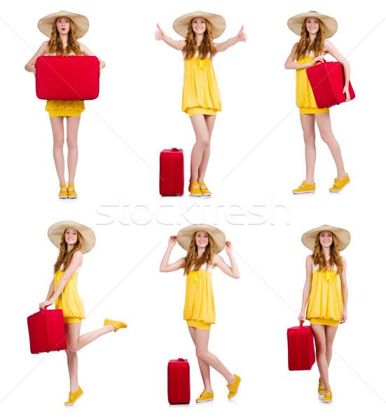 Woman preparing for summer vacation Stock photo © Elnur