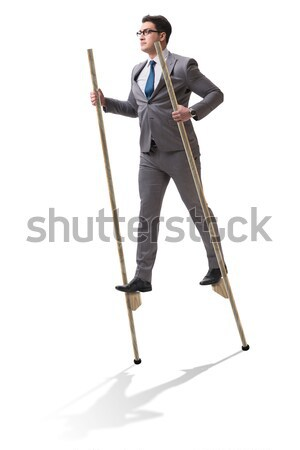 Stock photo: Funny male tailor on white
