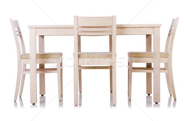Stok fotoğraf: Mobilya · ayarlamak · tablo · sandalye · ev · toplantı