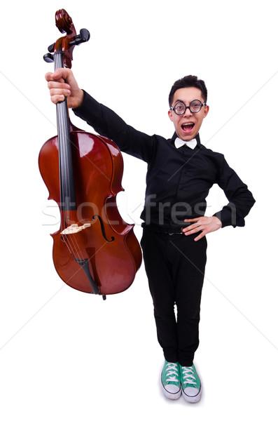 面白い バイオリン プレーヤー 白 男 サウンド ストックフォト © Elnur