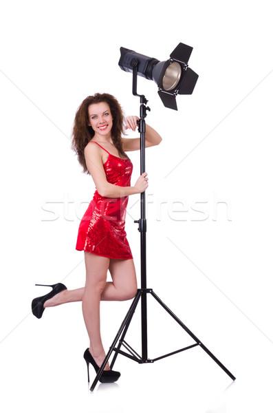 Model studio biały dziewczyna twarz moda Zdjęcia stock © Elnur