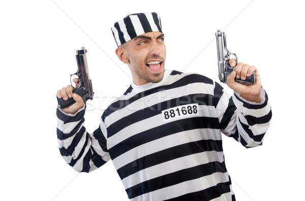 Gevangene pistool geïsoleerd witte recht politie Stockfoto © Elnur