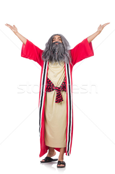 Stock photo: Old wizard isolated on the white background