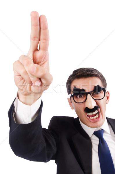 Vicces üzletember szemöldök bajusz üzlet haj Stock fotó © Elnur