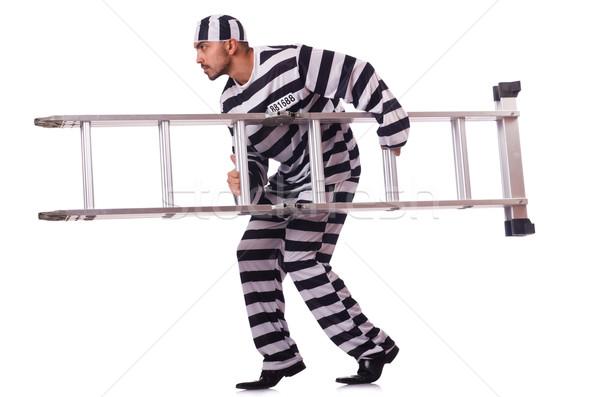 Convict criminal in striped uniform Stock photo © Elnur