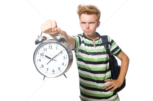 Zangado estudante desaparecido prazos sorrir relógio Foto stock © Elnur