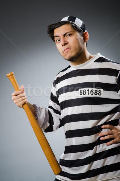 Funny więzienia więzień sportu prawa zabawy Zdjęcia stock © Elnur