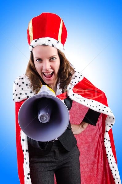 Mulher rainha engraçado negócio trabalhar empresário Foto stock © Elnur