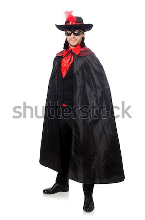 若い男 カーニバル コート 孤立した 白 男 ストックフォト © Elnur