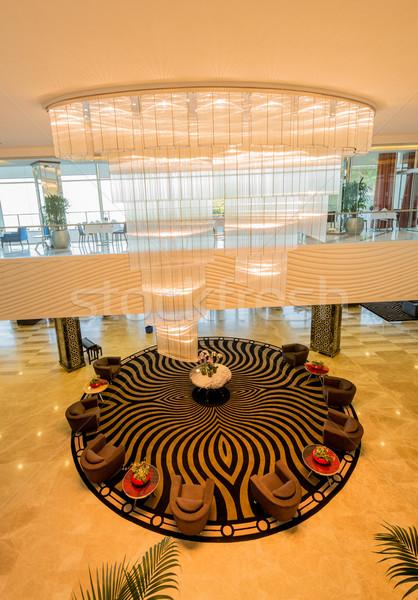Hotel lobbi modern terv ház fény Stock fotó © Elnur