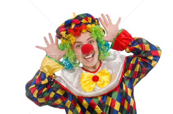 Clown isolated on the white background Stock photo © Elnur