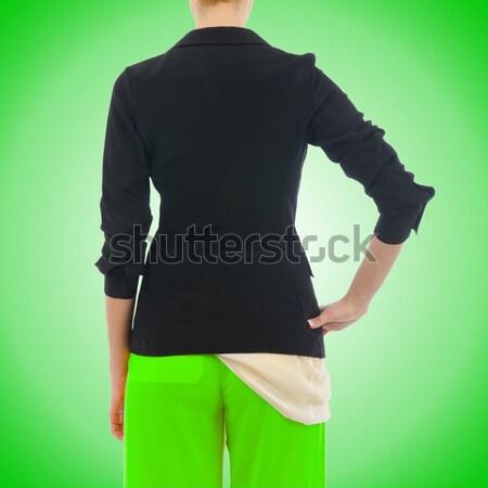 élégant veste isolé modèle femme tissu Photo stock © Elnur