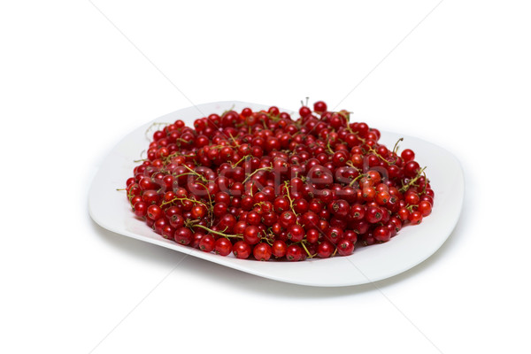 Red currant berries isolated on white Stock photo © Elnur