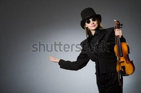 Jonge aantrekkelijke vrouw politie mode lichaam veiligheid Stockfoto © Elnur