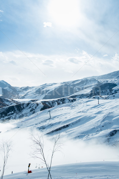 Ski lifts in Shahdag mountain skiing resort Stock photo © Elnur
