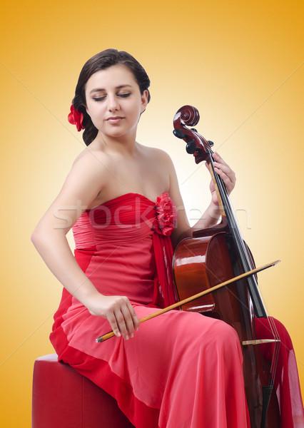 Młoda dziewczyna skrzypce biały kobieta koncertu dźwięku Zdjęcia stock © Elnur