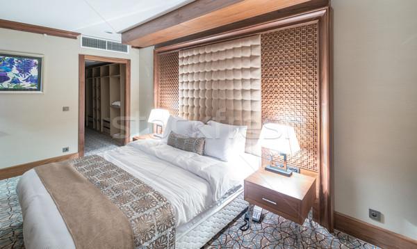 Otel odası modern iç ev dizayn seyahat Stok fotoğraf © Elnur