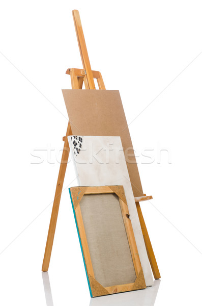 Easel isolated on the white background Stock photo © Elnur