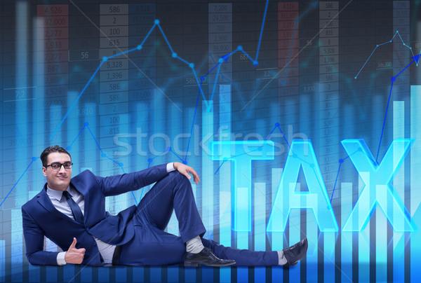 Imprenditore fiscali business carta uomo tempo Foto d'archivio © Elnur