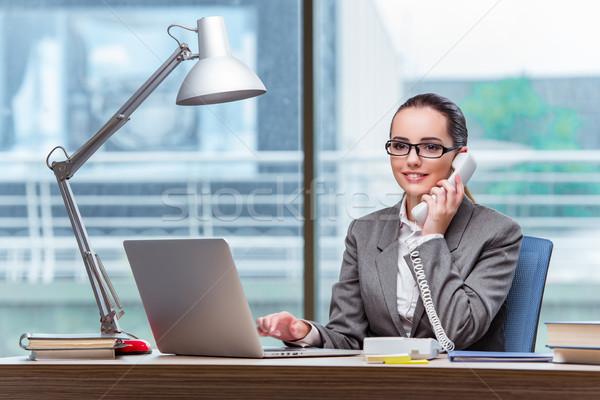 コールセンター 演算子 ビジネス コンピュータ 電話 技術 ストックフォト © Elnur