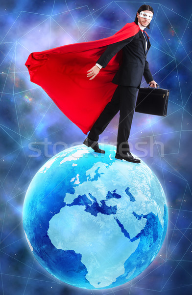 Man with superpowers ruling the world Stock photo © Elnur