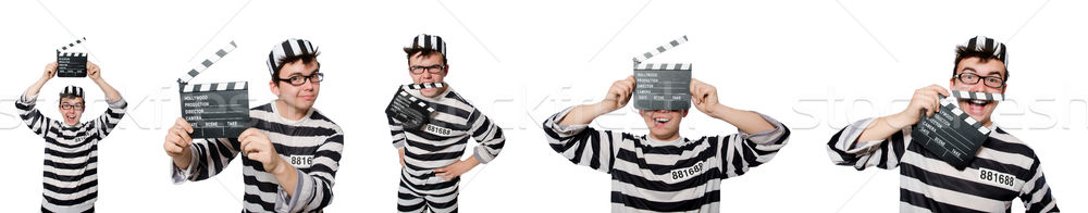 Funny więzienia więzień człowiek sztuki sprawiedliwości Zdjęcia stock © Elnur