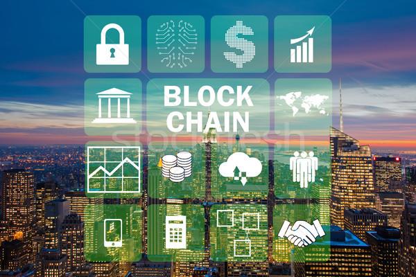 Blockchain concept in database management Stock photo © Elnur