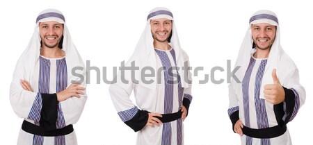 Arab businessman isolated on the white Stock photo © Elnur