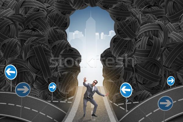 üzletember bizonytalanság üzlet férfi munka jövő Stock fotó © Elnur