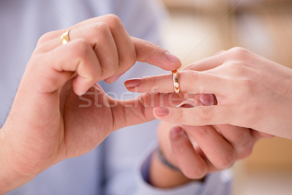 Young family in marriage divorce concept Stock photo © Elnur