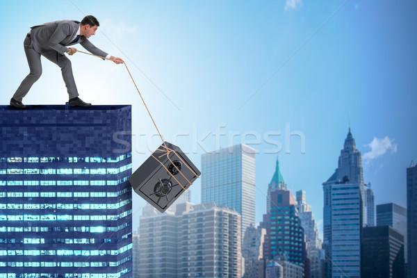 üzletember lop széf épület üzlet fém Stock fotó © Elnur