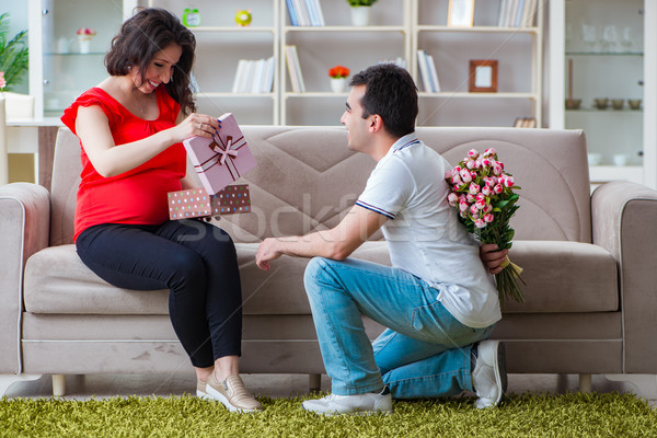 Young couple family expecting a baby Stock photo © Elnur