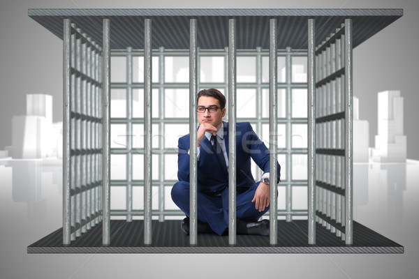 Businessman in the cage business concept Stock photo © Elnur