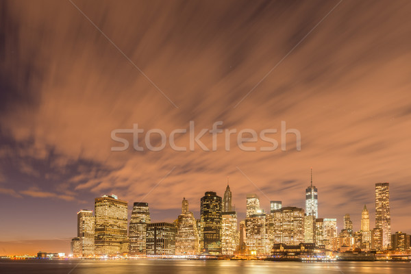 View of lower Manhattan from Brooklyn Stock photo © Elnur