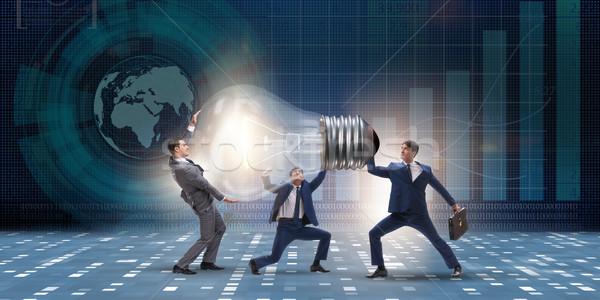 Businessmen in bright idea concept Stock photo © Elnur