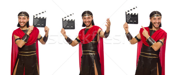 Gladiator geïsoleerd witte man film video Stockfoto © Elnur