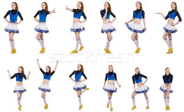 Cheerleader isolated on the white background Stock photo © Elnur