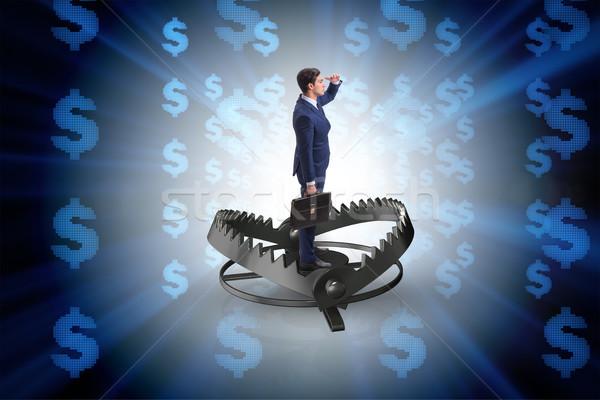 Biznesmen uwięzione Dolar działalności finansów pieniężnych Zdjęcia stock © Elnur