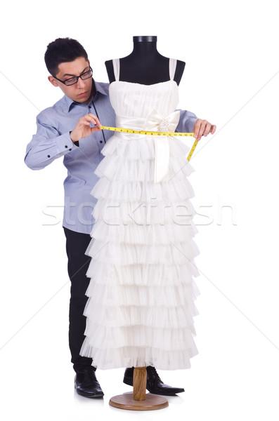 Engraçado masculino alfaiate branco negócio menina Foto stock © Elnur
