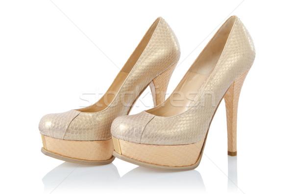 Szép nő cipők izolált fehér divat Stock fotó © Elnur