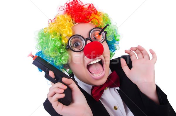 бизнесмен клоуна изолированный белый женщину стороны Сток-фото © Elnur