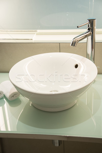 Modern batmak banyo su ışık Metal Stok fotoğraf © Elnur