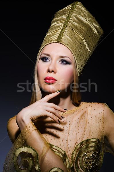Młodych model egipcjanin piękna kobieta twarz Zdjęcia stock © Elnur