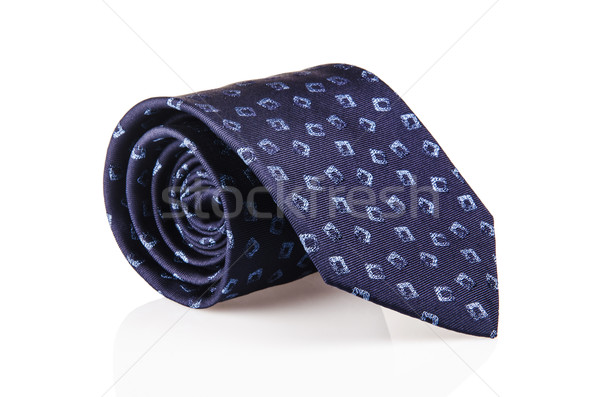 Elegant silk male tie ( necktie ) on white Stock photo © Elnur
