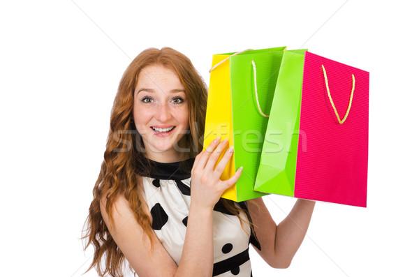 белый женщину счастливым моде Сток-фото © Elnur